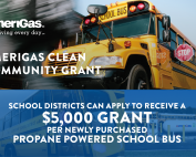 AmeriGas grant for propane powered school bus fleets