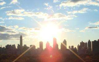 Sun rising over Central Park