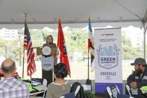 City of Knoxville Mayor Madeline Rogero speaks at the event