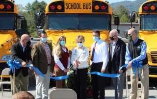 Ribbon cutting at Hancock County Schools
