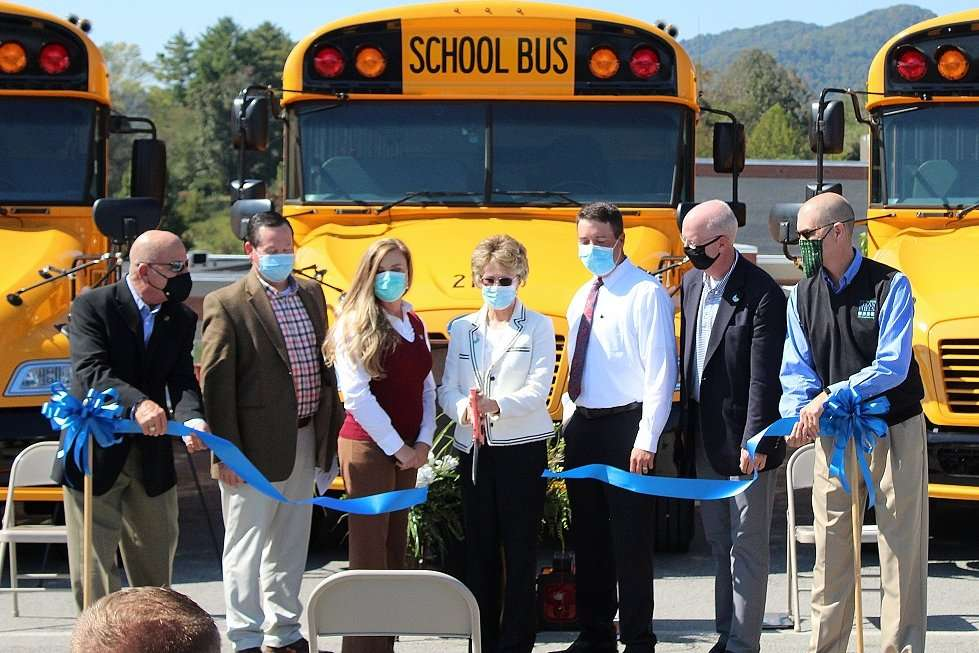Ribbon cutting at Hancock County Schools