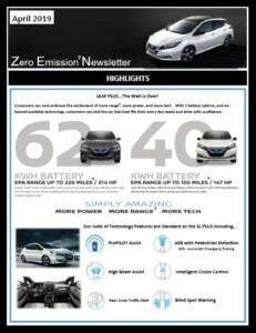 Nissan Leaf Highlights