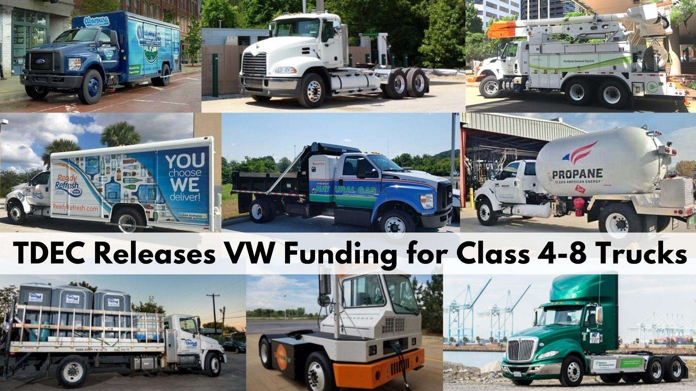 TDEC releases VW Funding for Class 4-8 Trucks