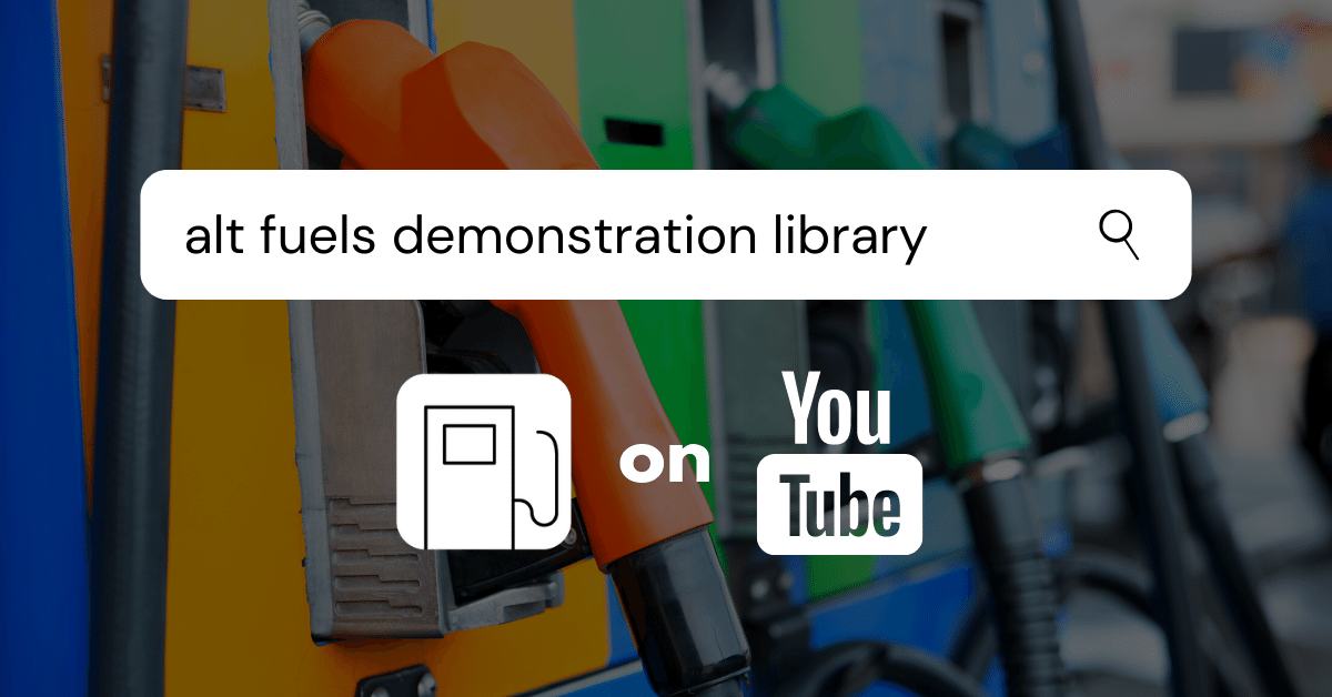 Alt Fuels Demonstration Library launches just in time for National Drive Electric Week
